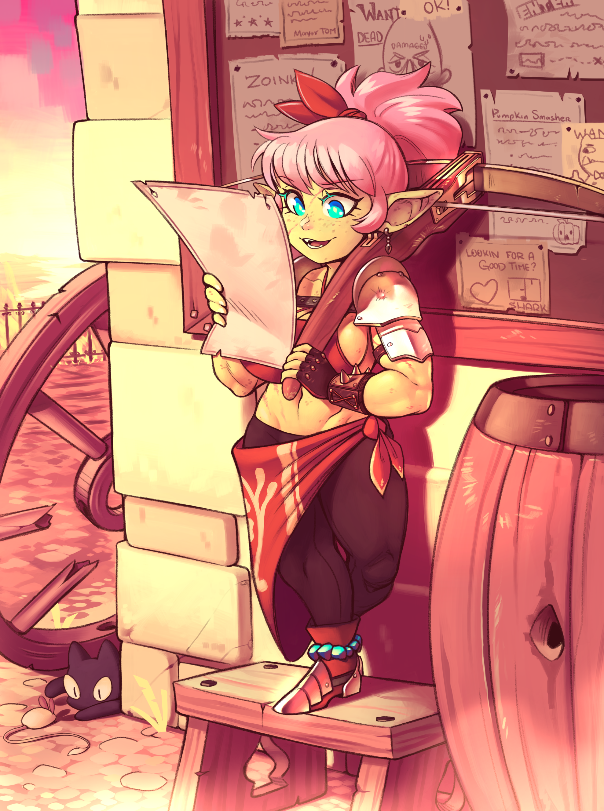 Commission-Goblin-Bright and early