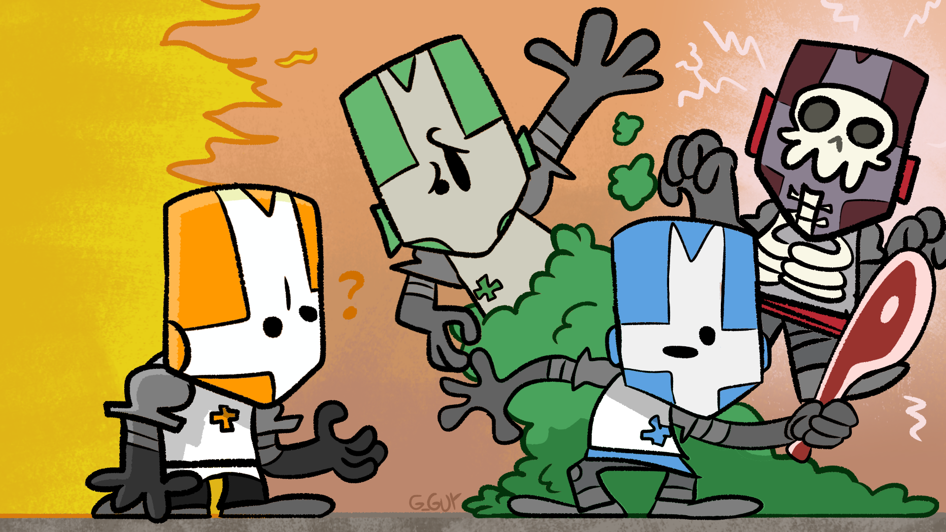 Knights from Castle Crashers