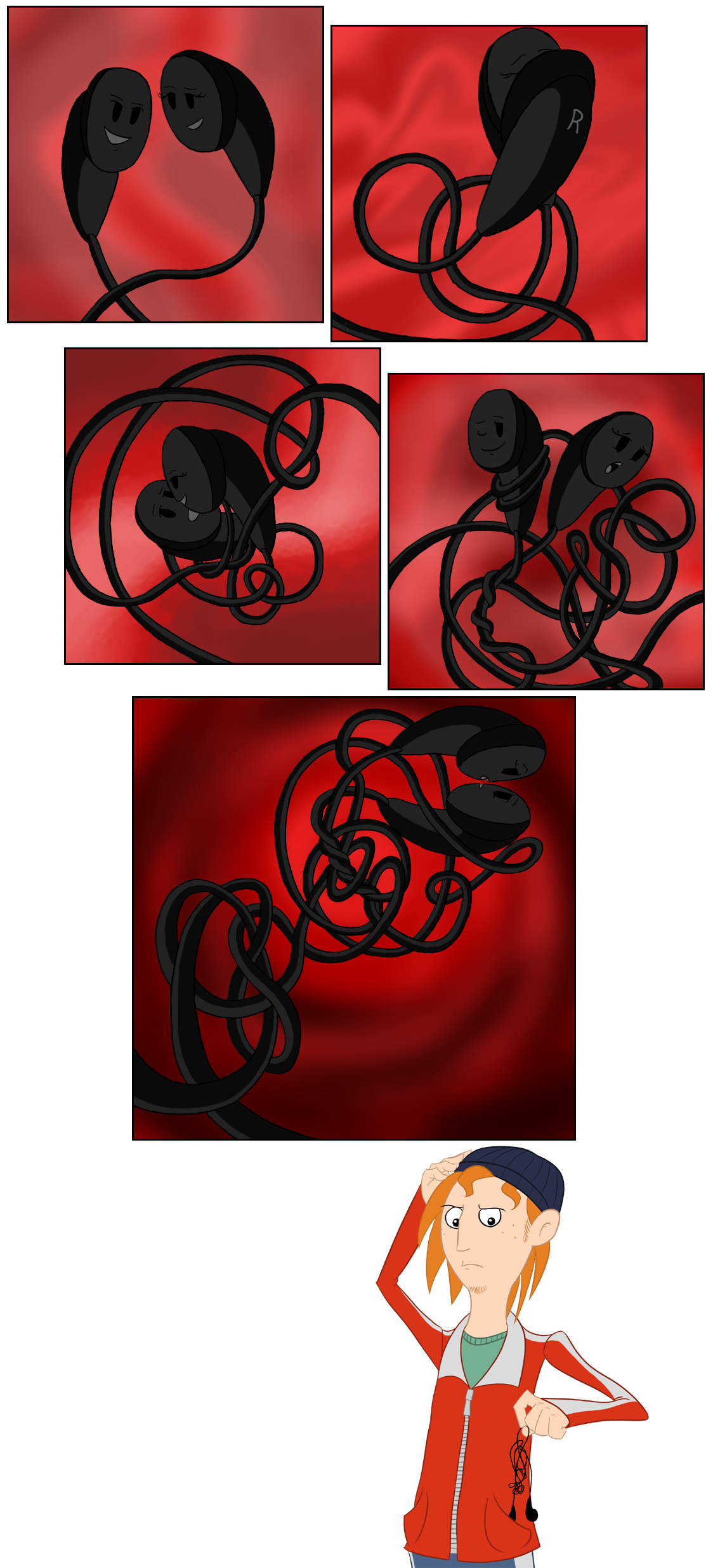 The thing with earphones.