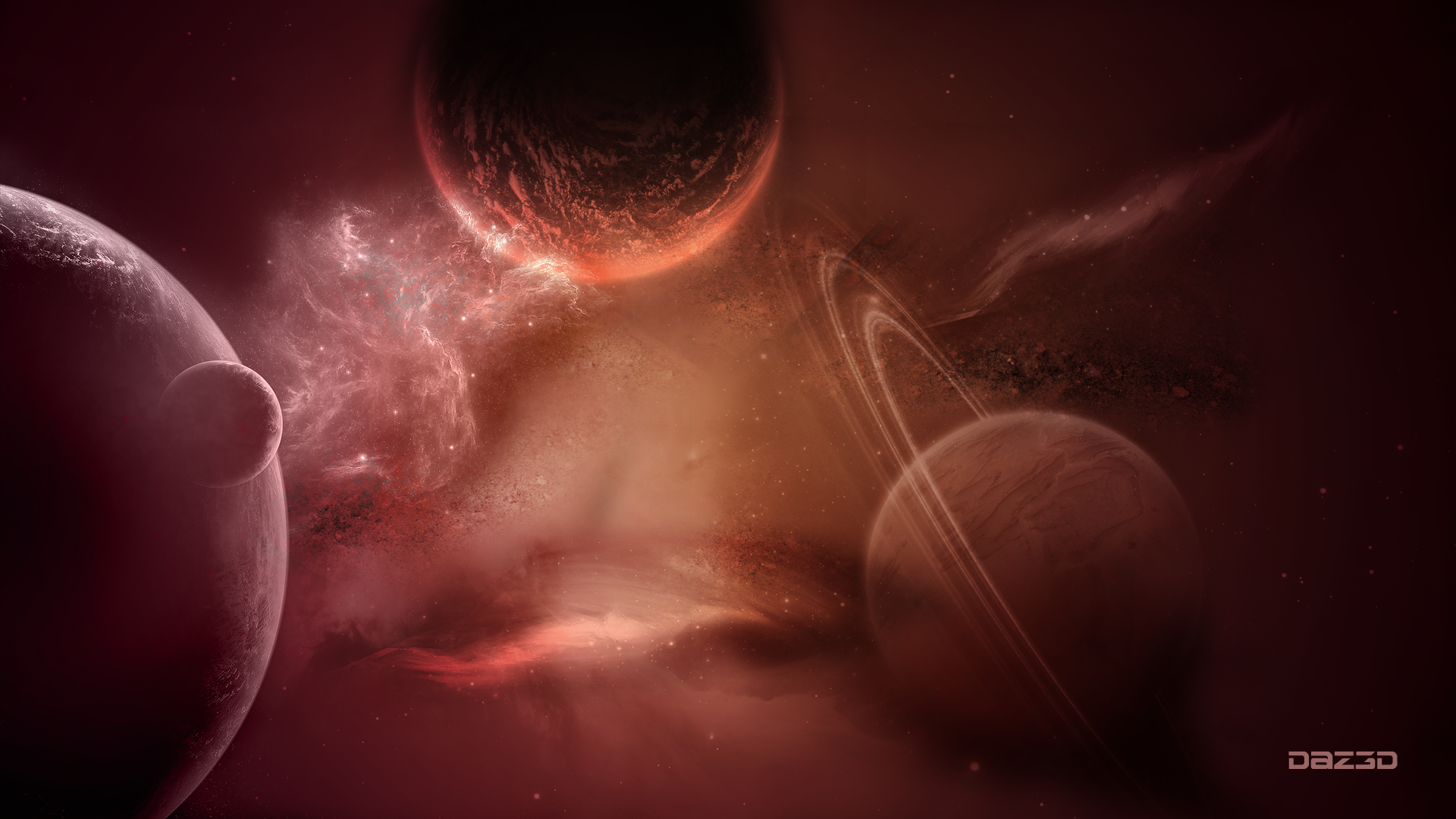 A distant galaxy ( Wallpaper )