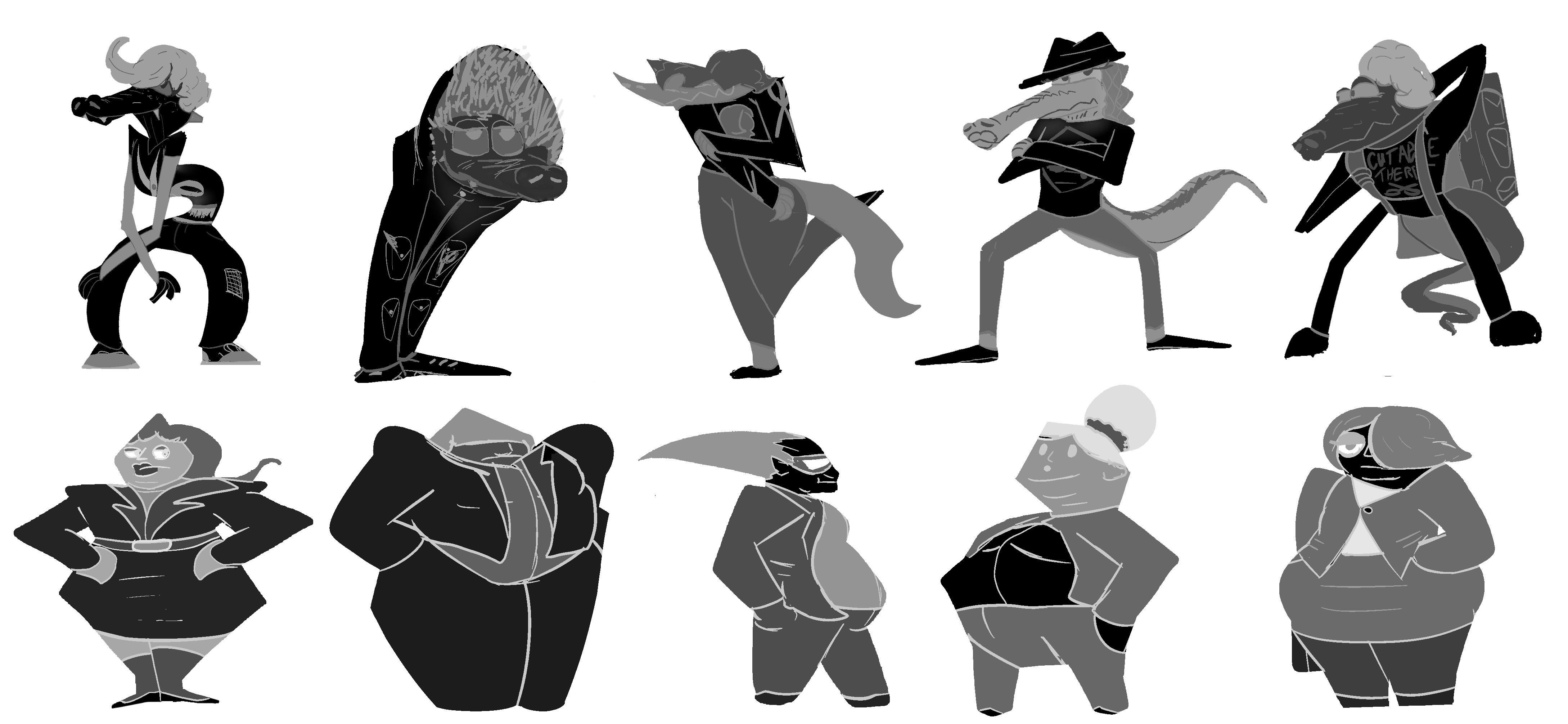 Silhouettes: Finalized Designs
