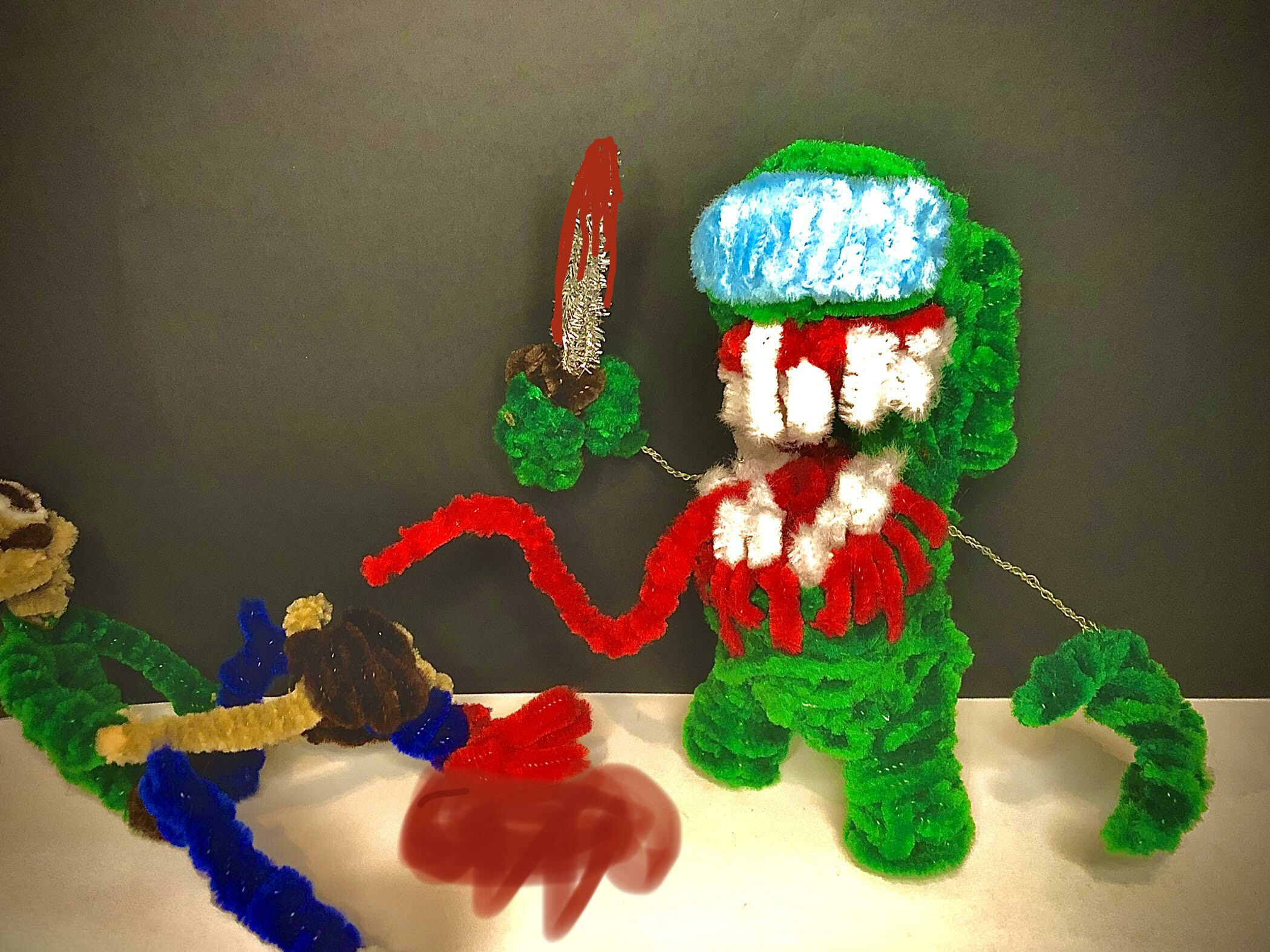 Sussy Impostor Among Us pipe cleaner