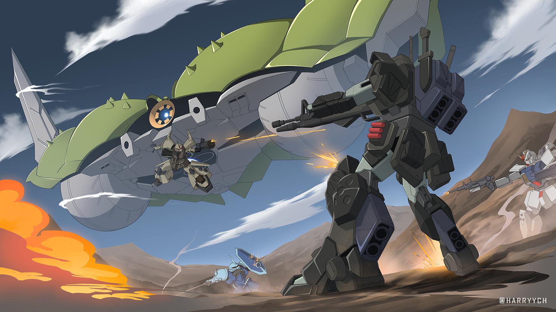 Comm - Gundam EZ-8 Hoplite Illustration