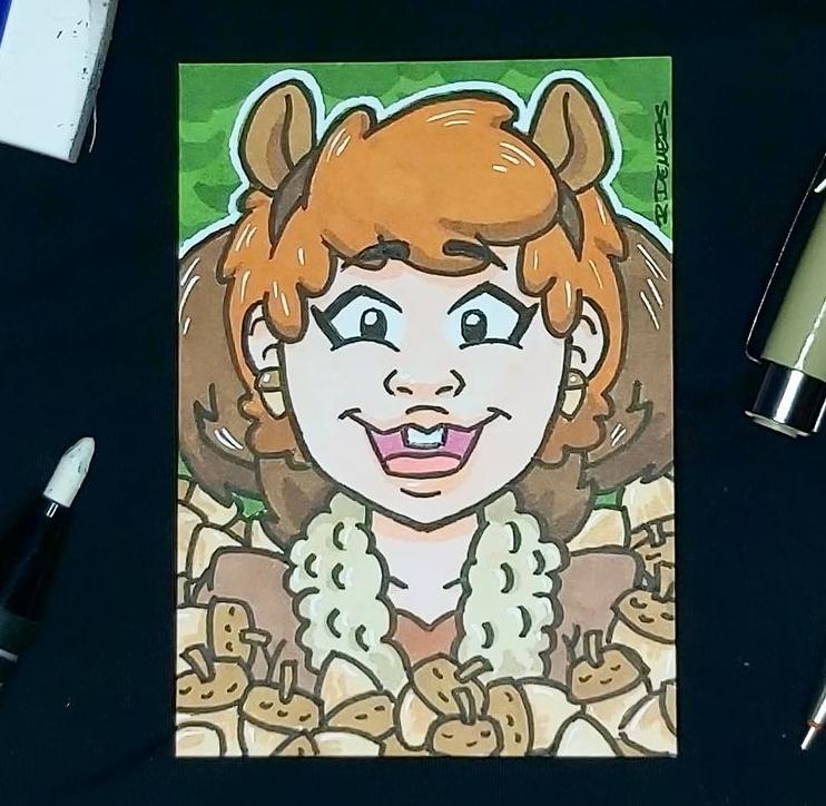 Squirrel Girl sketch card