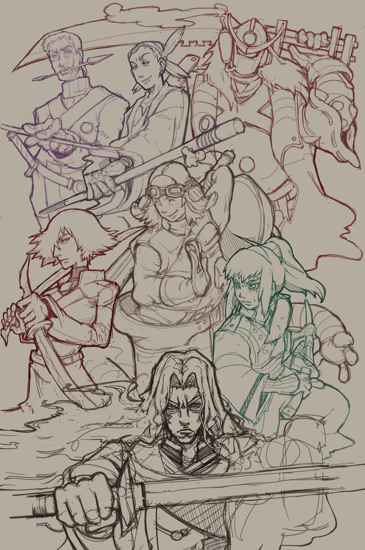 samurai 7 sketch (WIP)
