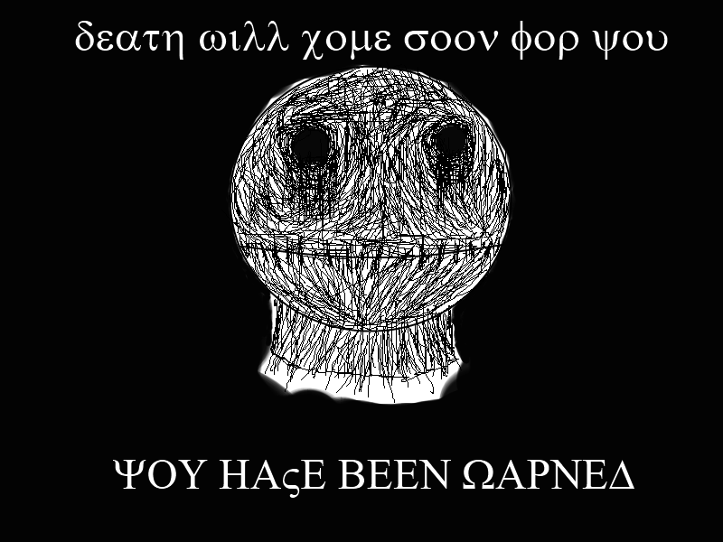 the dark message...