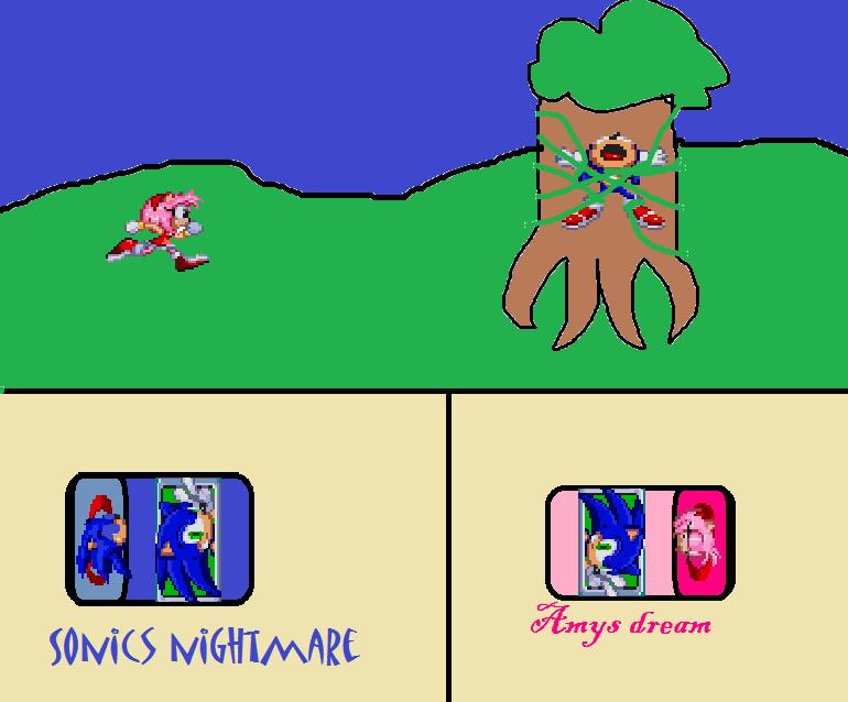 Amy's dream Sonic's nightmare