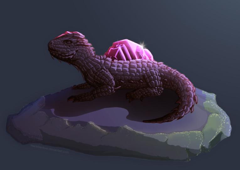 Moonbathing Gem Lizard