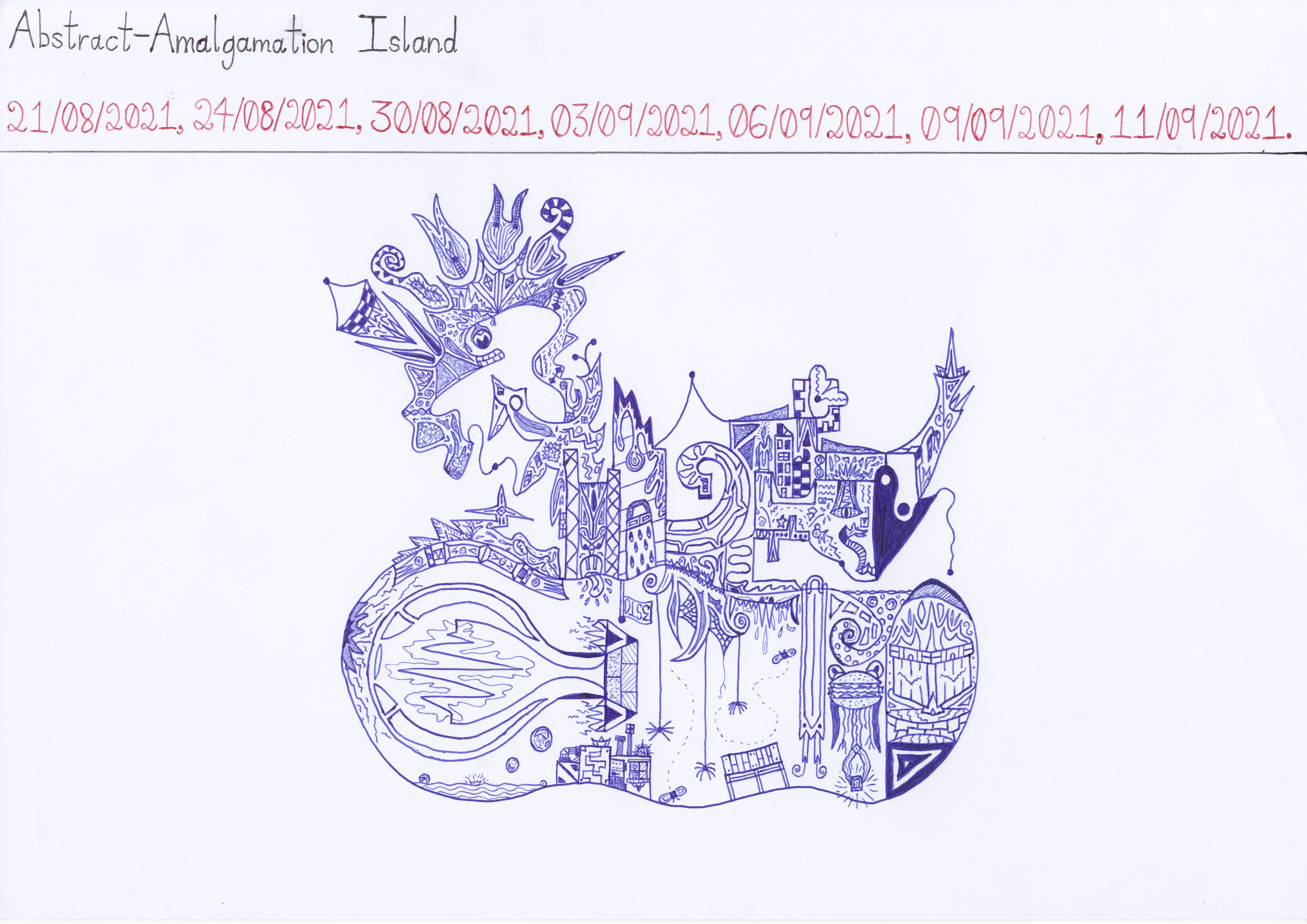 Art #107 — Abstract-Amalgamation Island