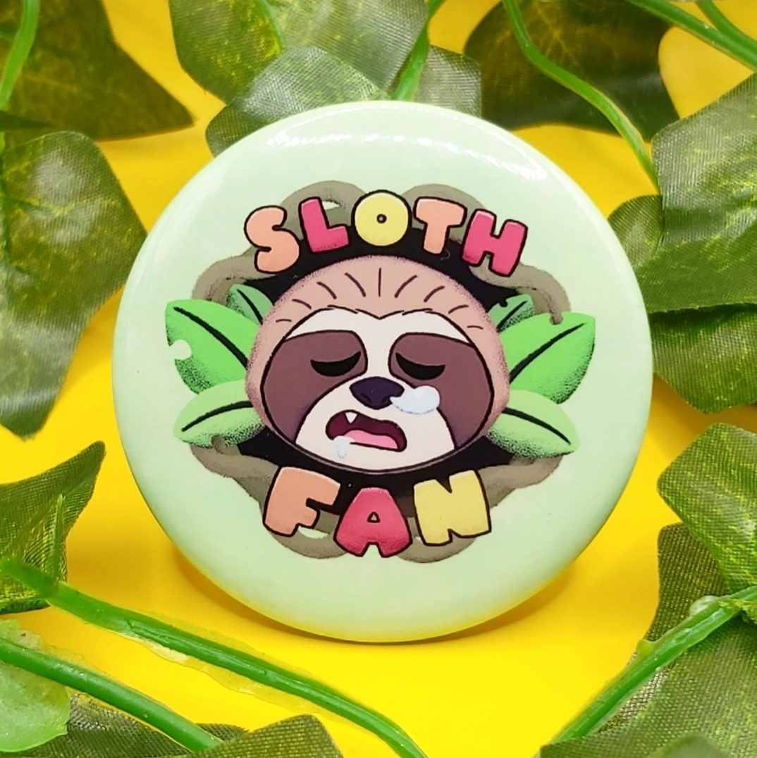Sloth Fan Buttons