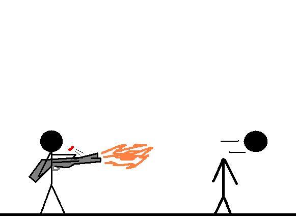 Stickman With Shotgun