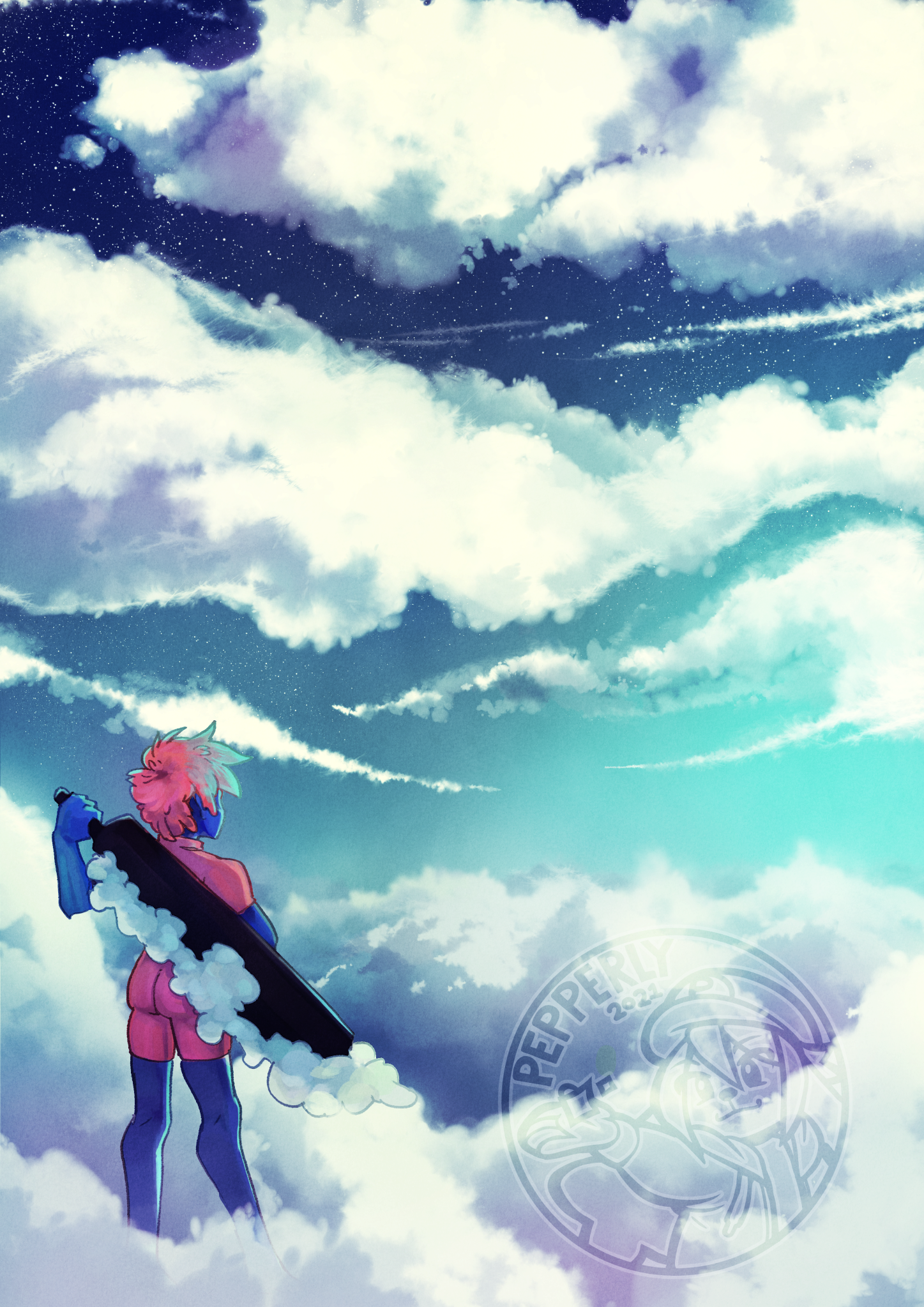 Look at all those clouds that need bashing