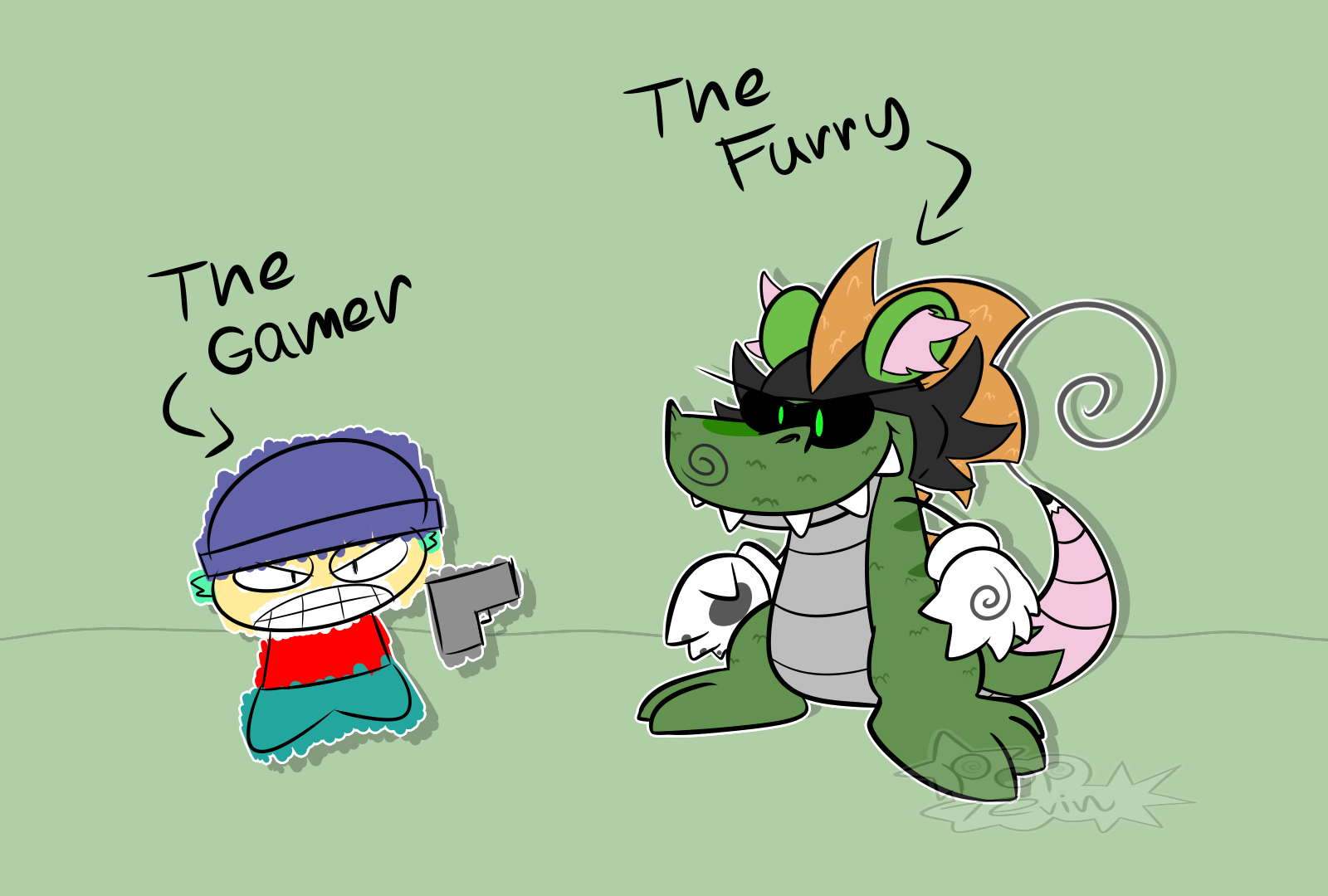 The Furry VS The Gamer