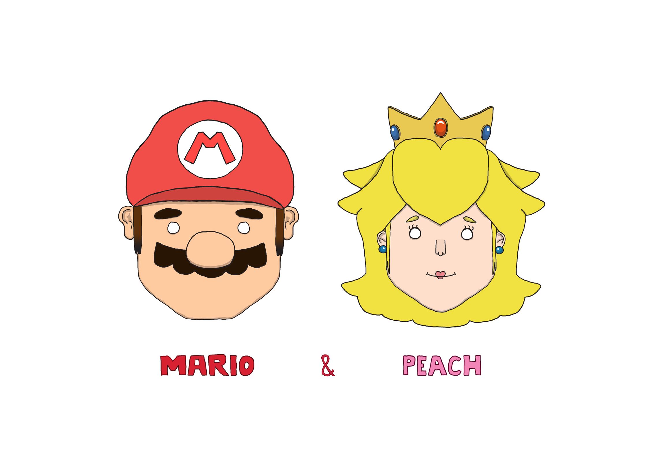 Mario and Peach