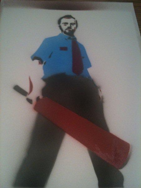 Shaun of the dead stencil
