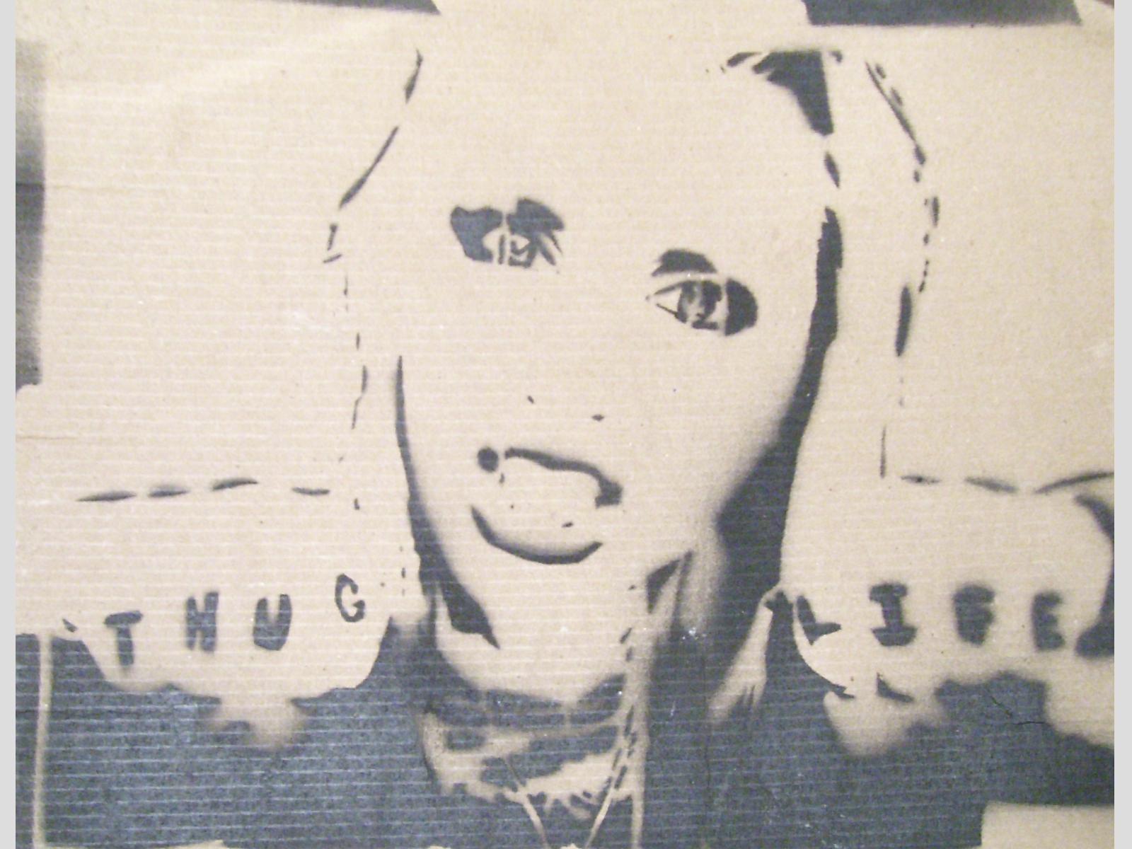Thug Life Stencil