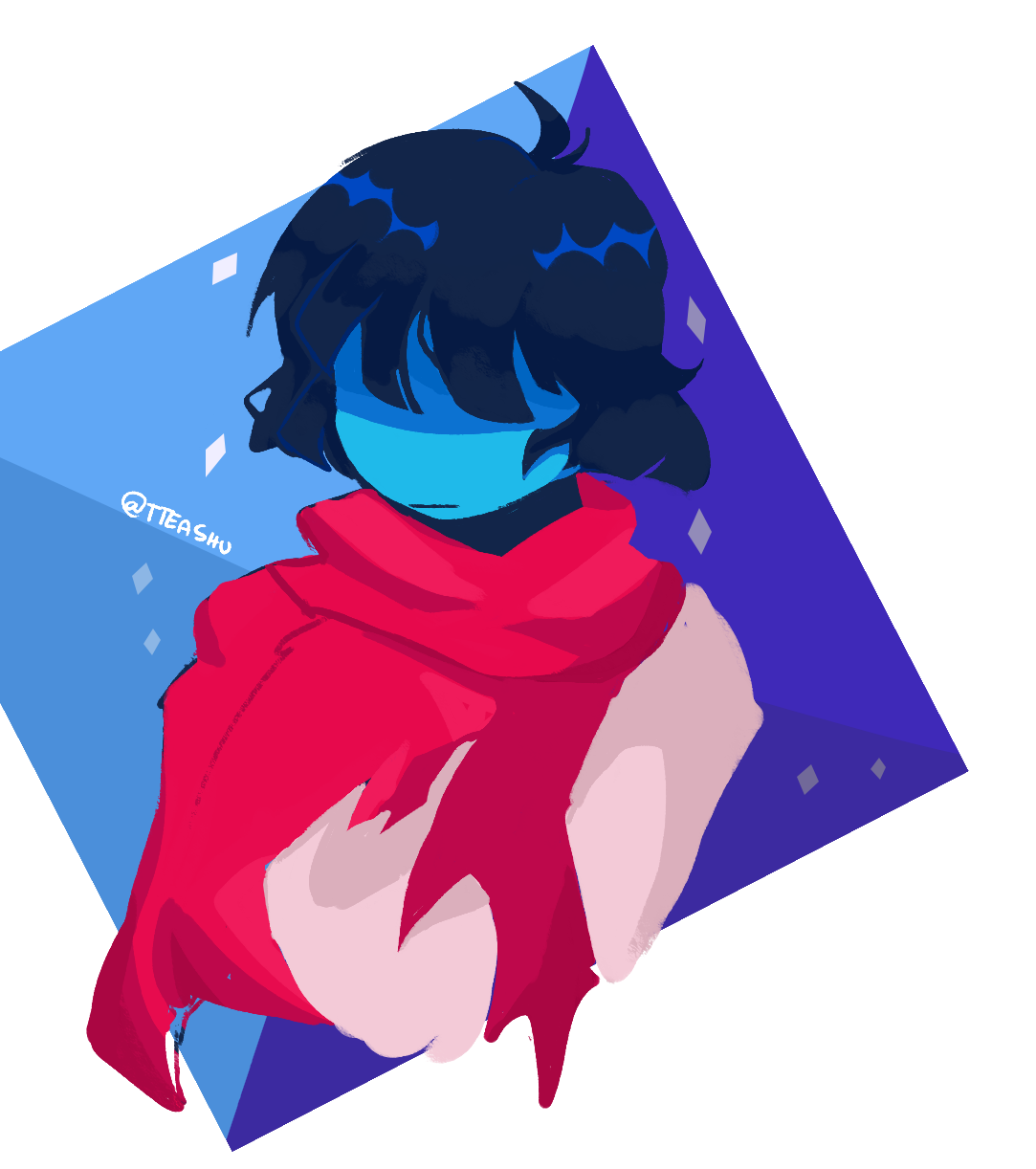 the funny blue kid from runes of delta