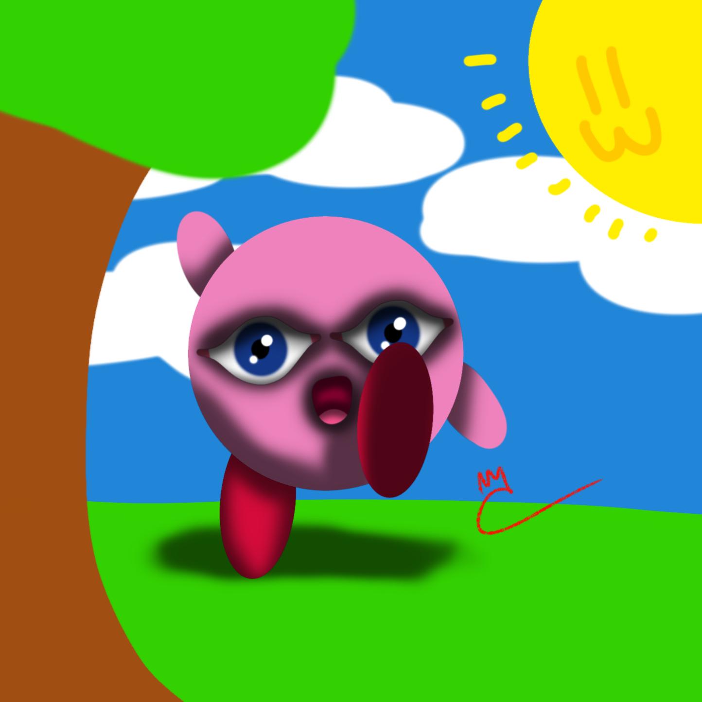 Happy Kirby fanart