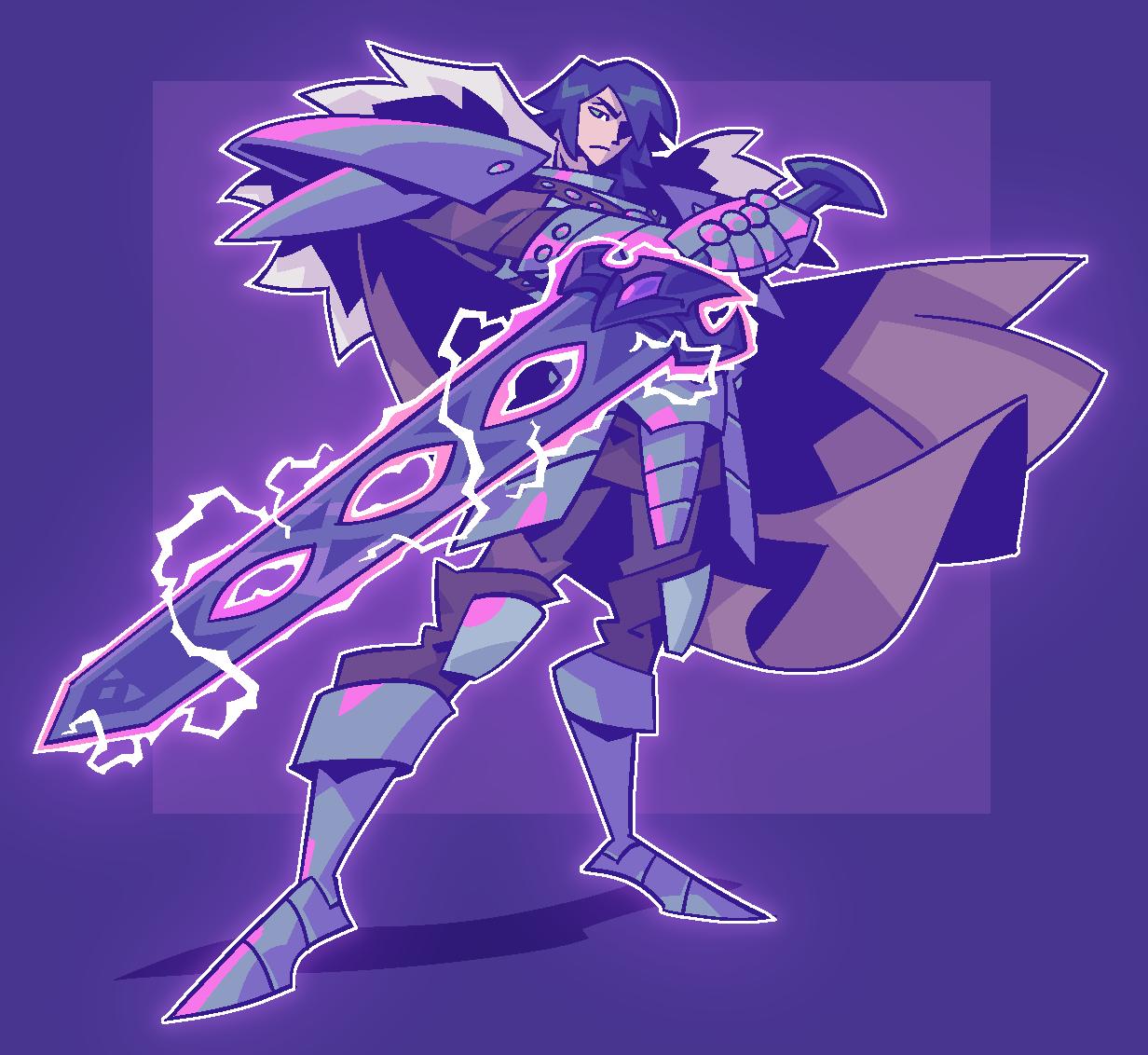 COMMISSION: Purple Blade