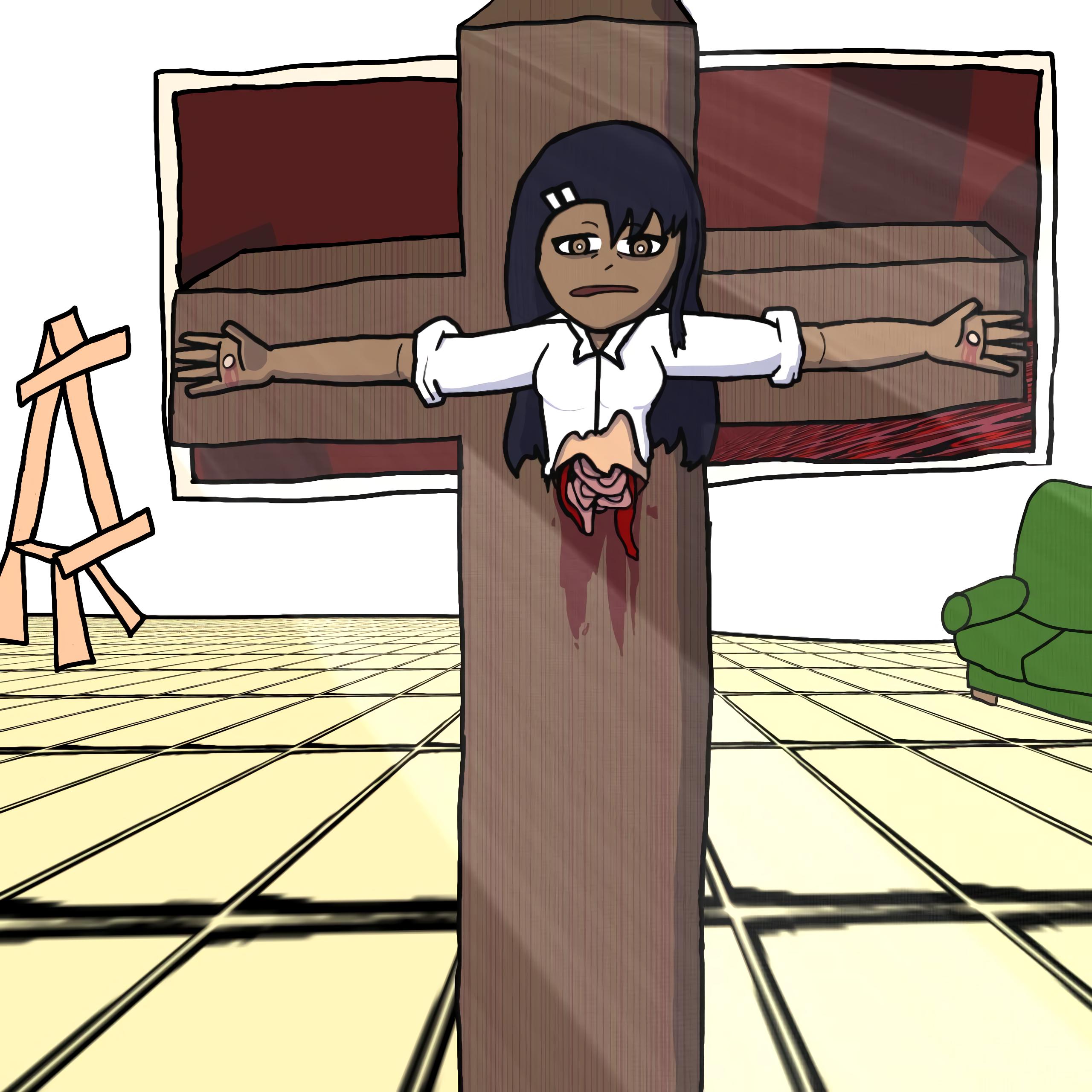 nagatoro on the cross