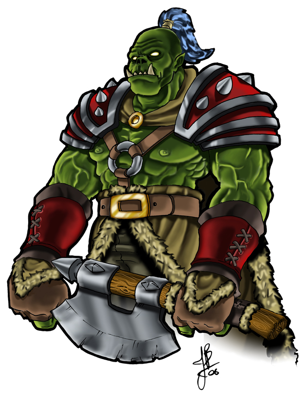 warcraft orc fan art