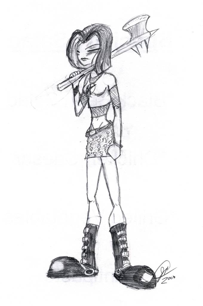 Pissed goth Chick