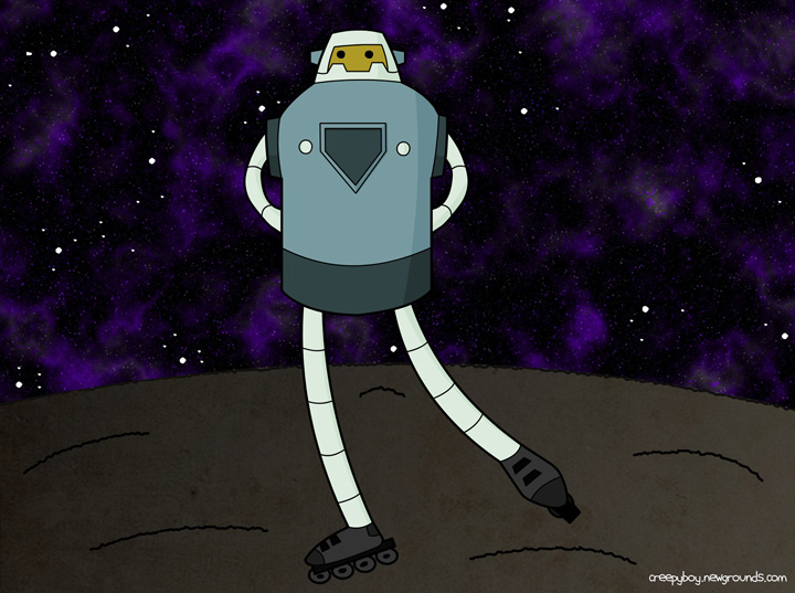 Roller-Bot on the Moon