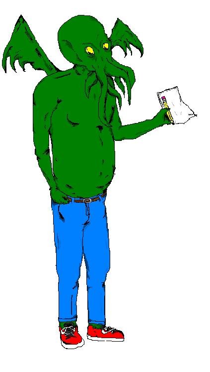 MS Paint Cthulu Fanboy