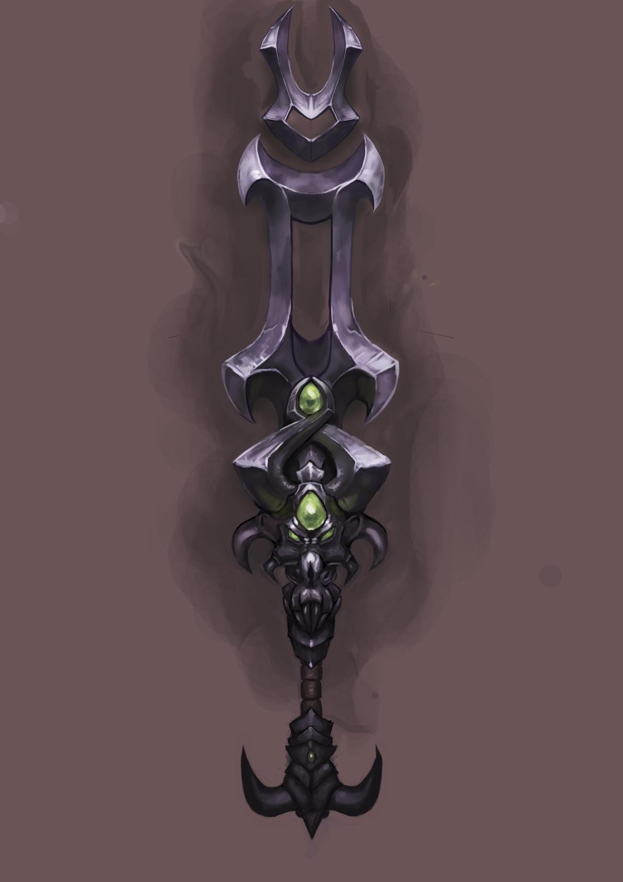 Ominous Purple WoW Sword