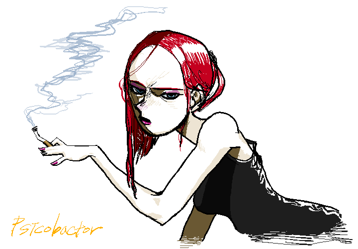 She with Cigarette