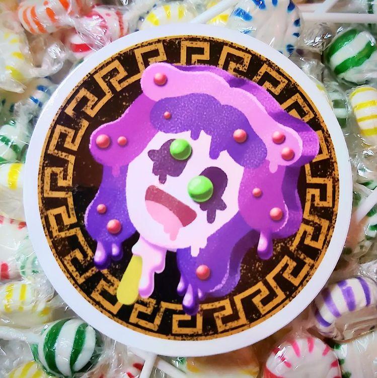 Melty Monster Pops Medusa Sticker