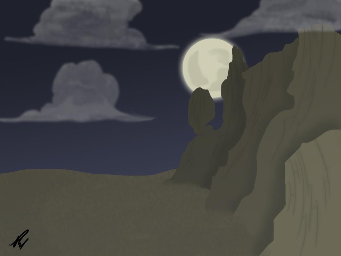 Full Moon Desert