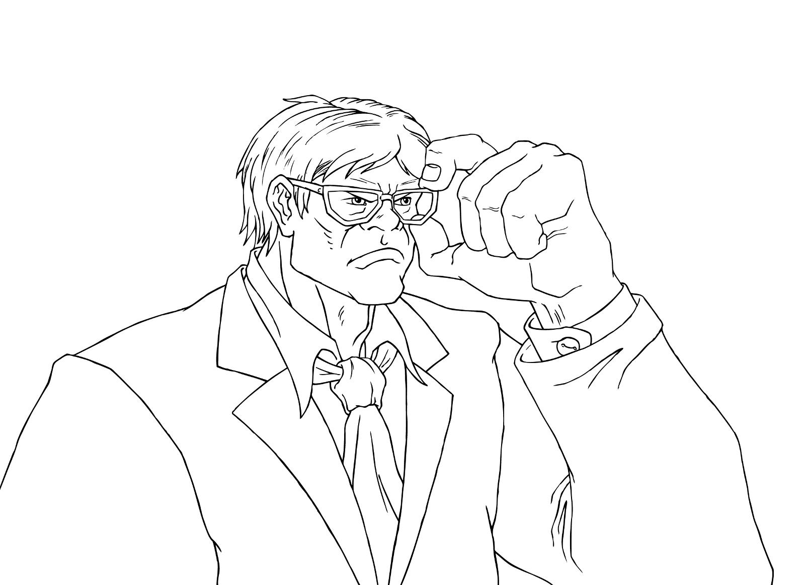 Nerd Hulk (Line Art)
