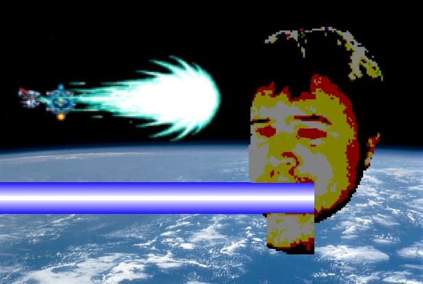 Space head lazor R-type.