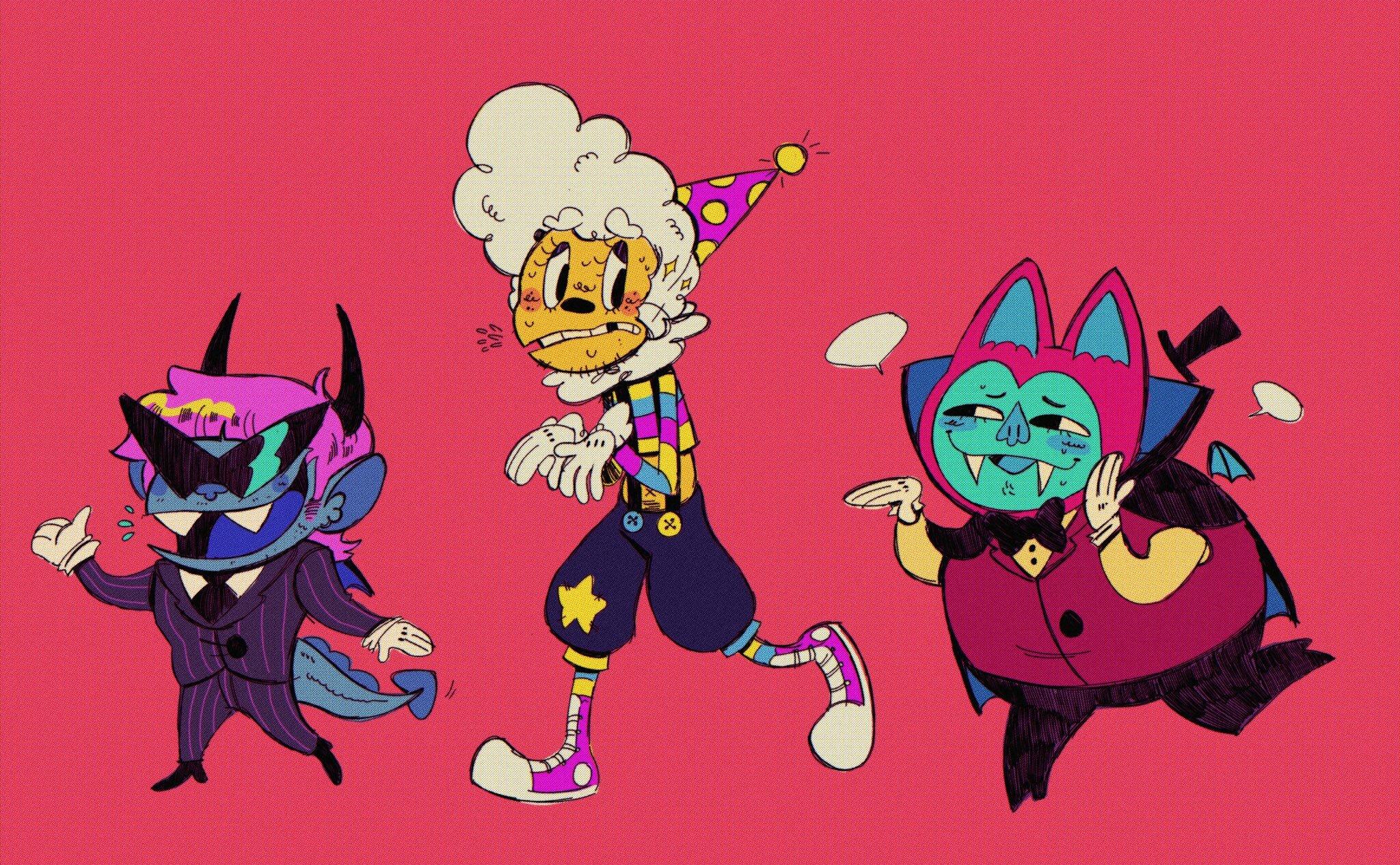 gargoyle clown vampire