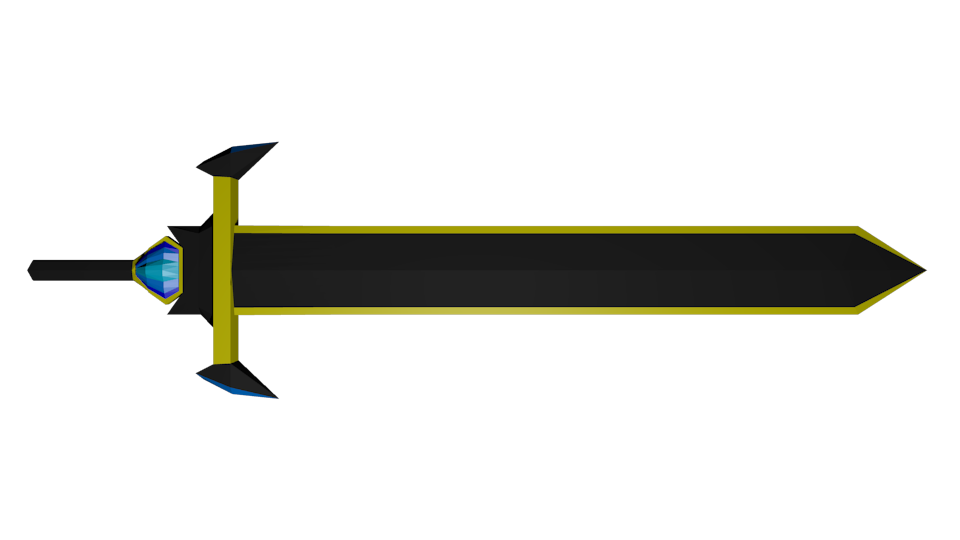 Black and Yellow Sword (3D)