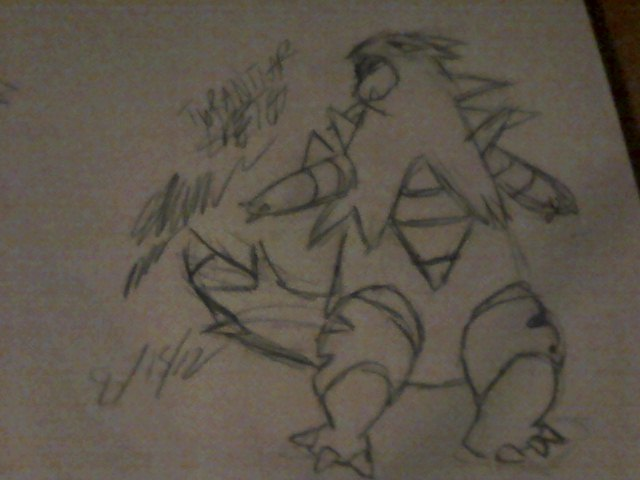 Tyranitar Sketch by Me