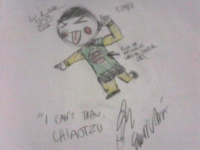 I can't draw Chiaotzu...
