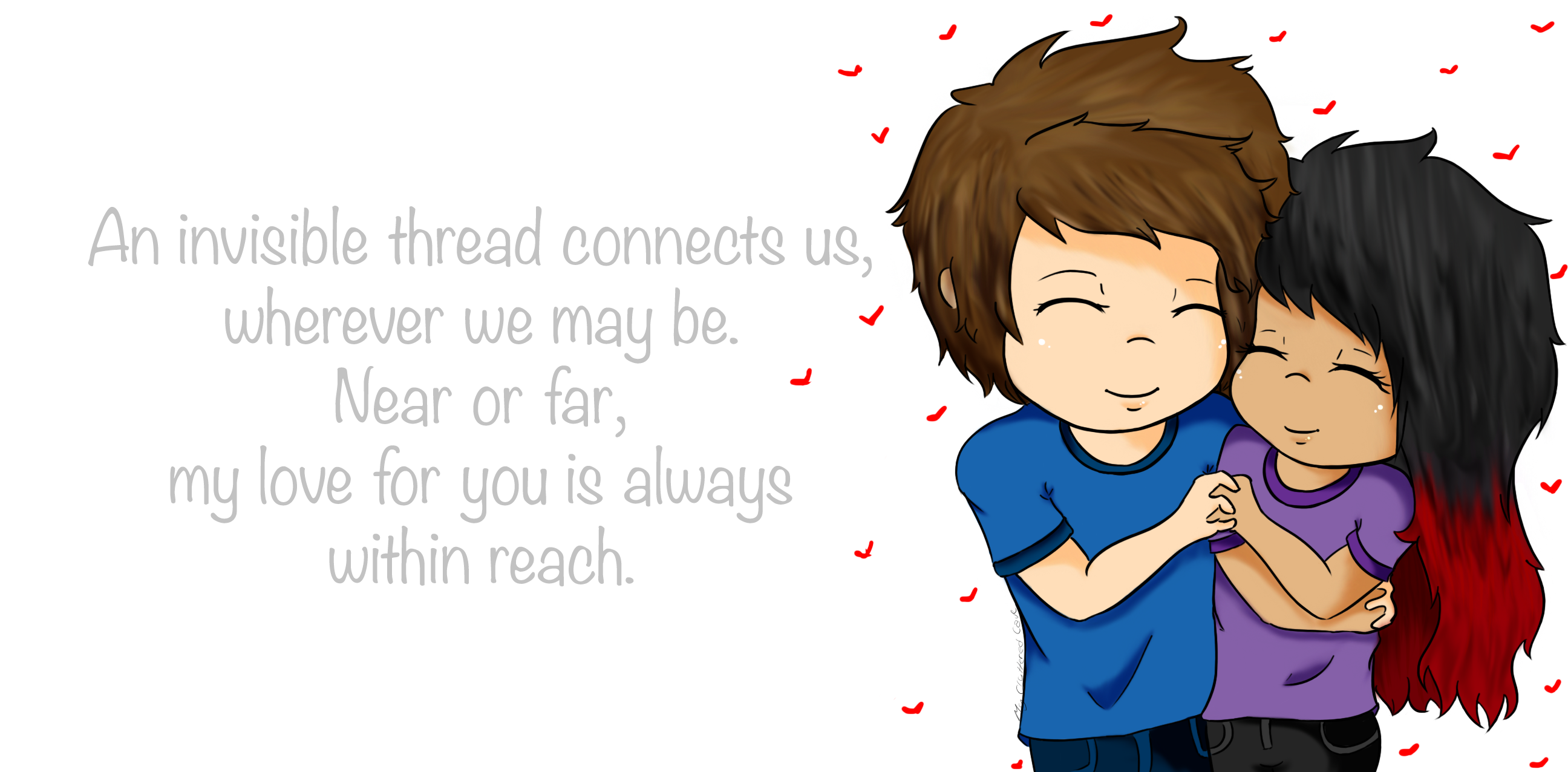 Me and my boyfriend w/ quote by MyClutteredCave on Newgrounds