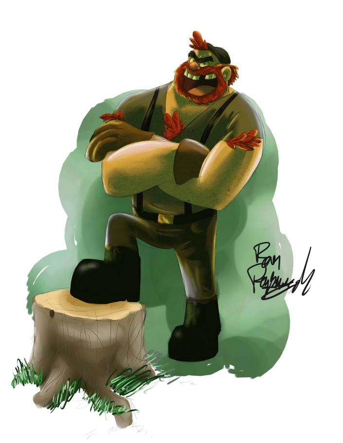 Manly Dan from Gravity Falls