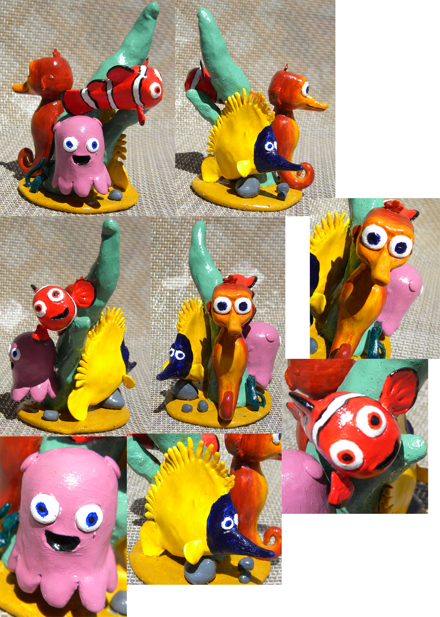 Nemo and friends sculpture