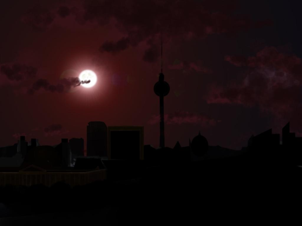 Berlin in darkness