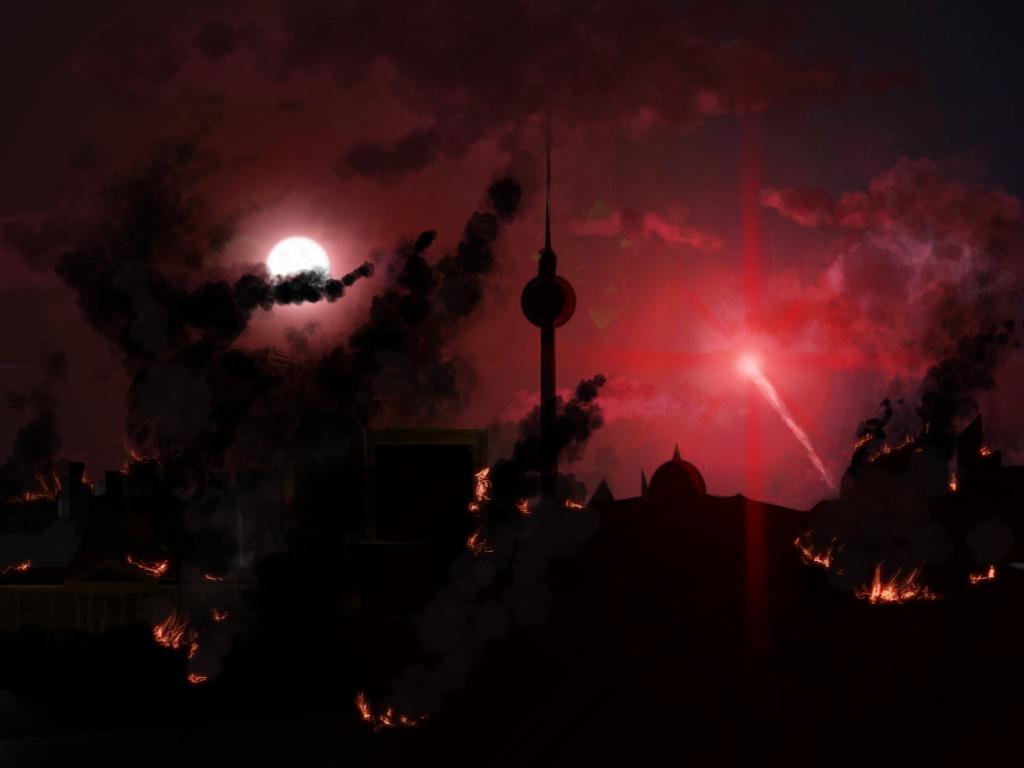 Berlin in fire