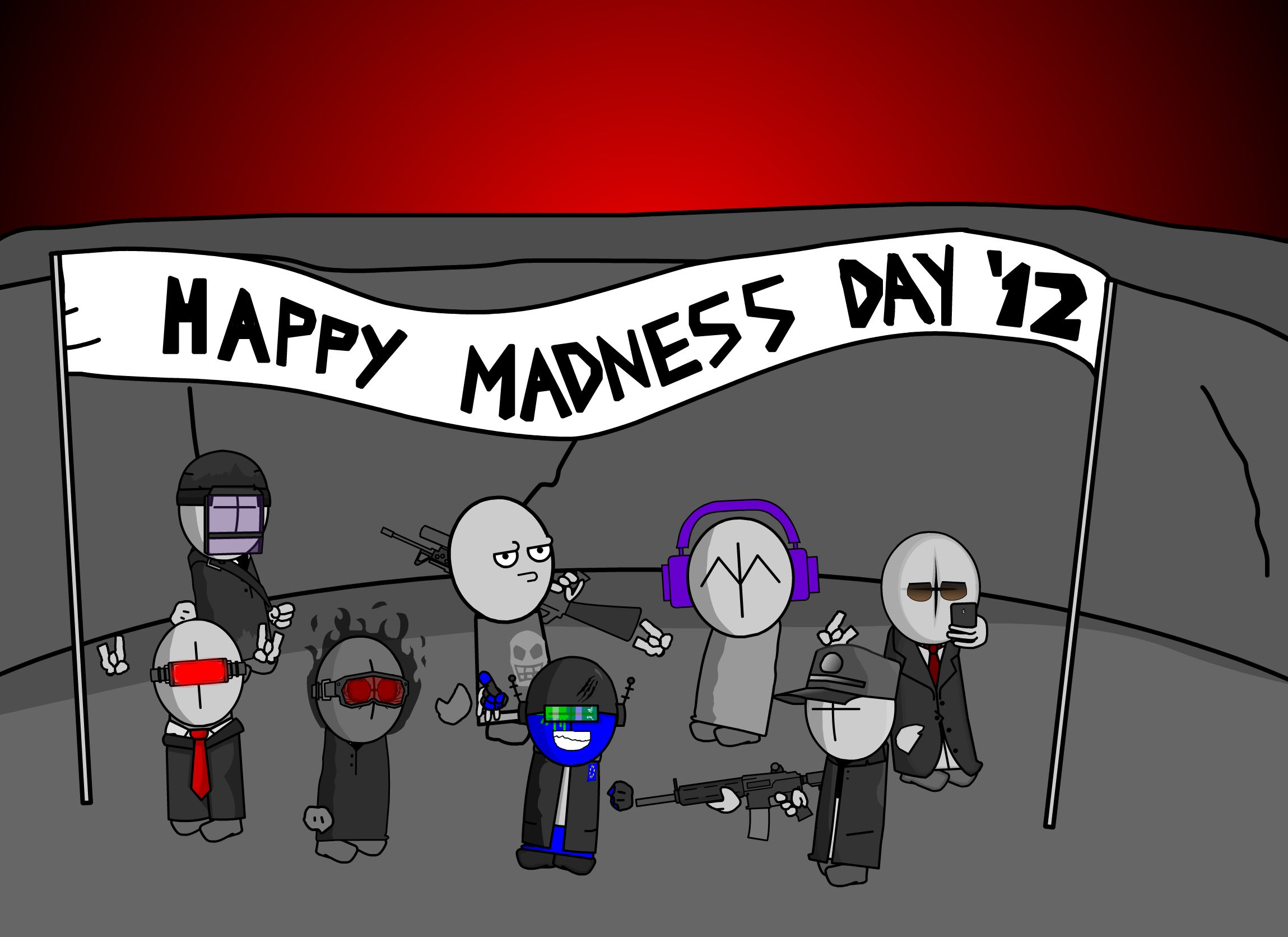 Madness day 2012 post card