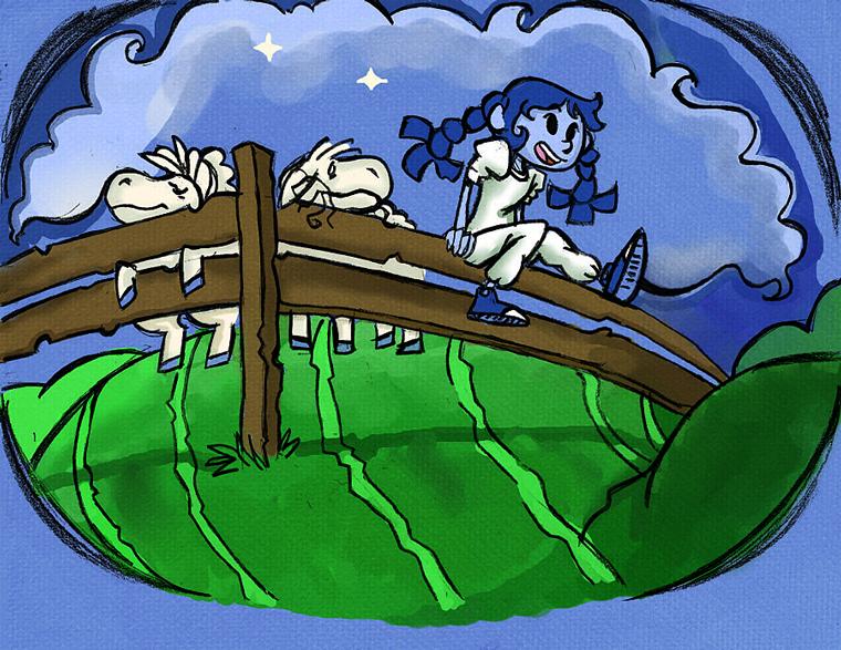Lollipop Dragon girl & Sheep