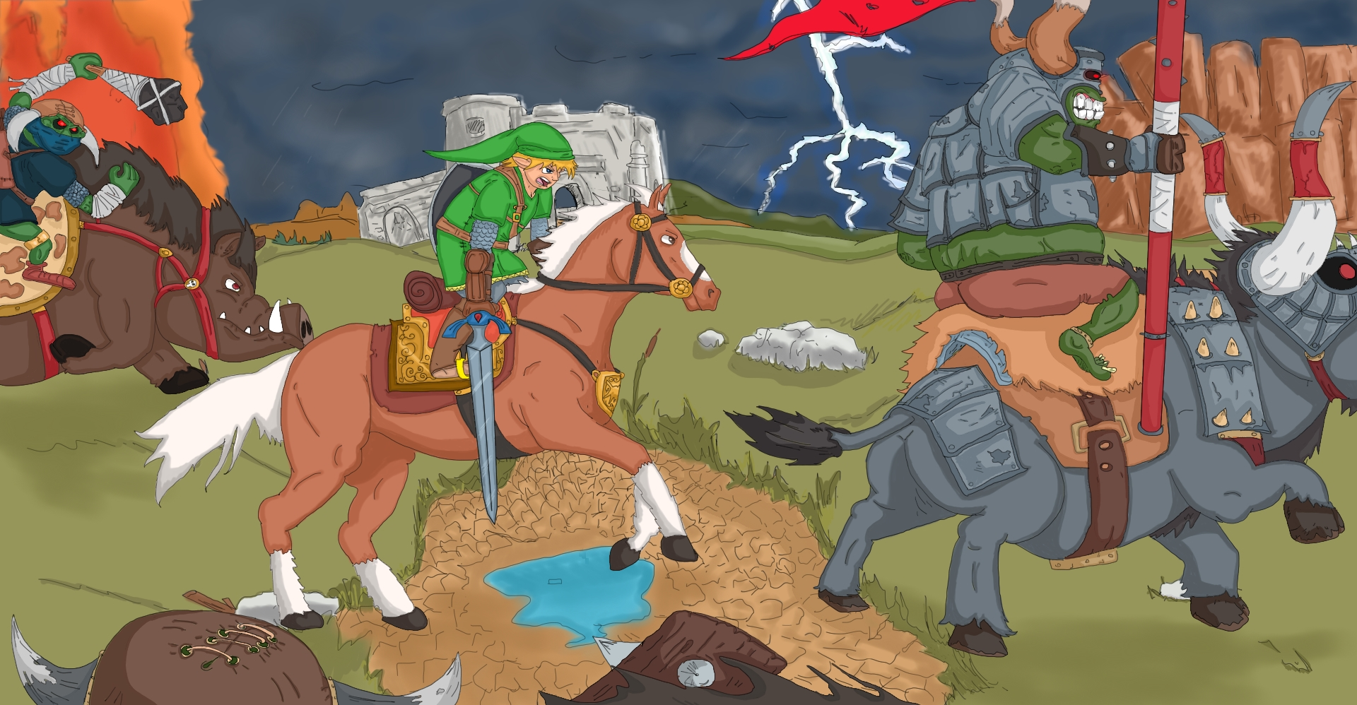 Zelda Horse Battle