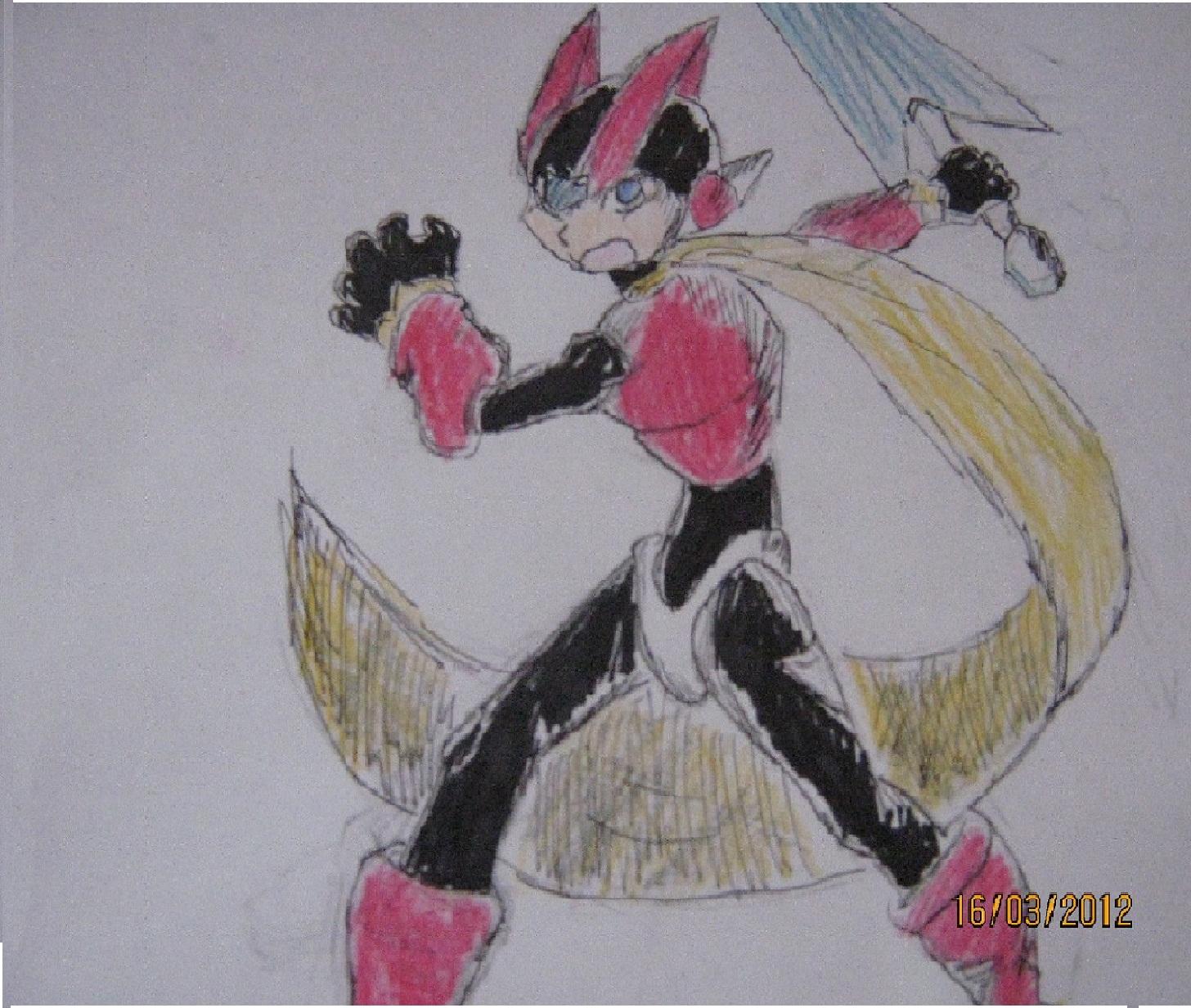 Mega Man Zero on paper
