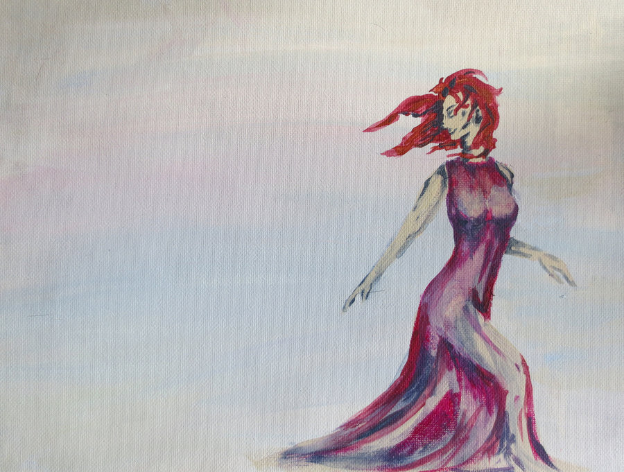 Woman of Red