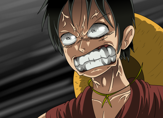 Luffy angry eyes