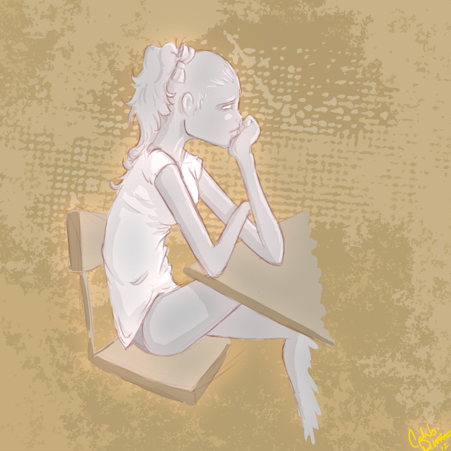 Girl In Chair